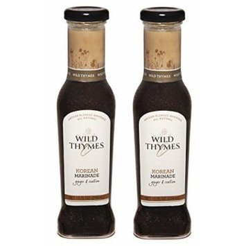 SPICY KOREAN BBQ MARINADE & SAUCE by Wild Thymes Farm, 10oz (Pack of 2)