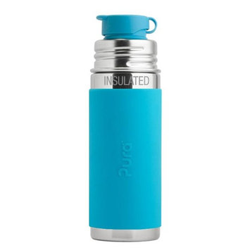 Stainless Steel Vacuum Insulated Sport Jr. Bottle Aqua Sleeve - 9 oz.