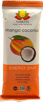 Amrita Health Foods Endurance Bar Mango Coconut 1.8 oz - Vegan