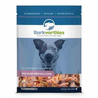 Natural Pig Ear Medallions, For Pet Type(s): Dogs By Barkworthies