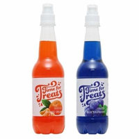 Victorio Time for Treats Snow Cone Syrup 2 Pack Bundle Orange Cream and Blue Raspberry