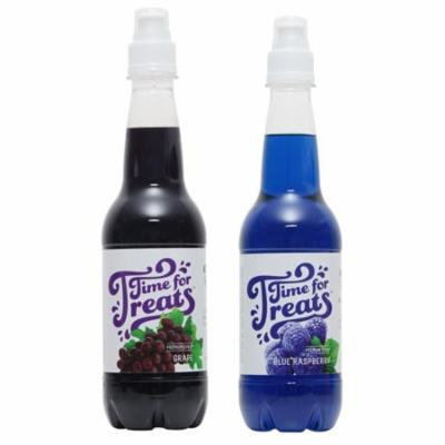 Victorio Time for Treats Snow Cone Syrup 2 Pack Bundle Grape and Blue Raspberry