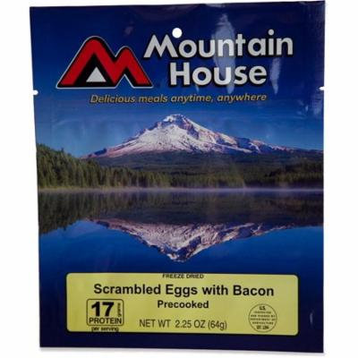 Mountain House Scrambled Eggs with Bacon - 2.25oz, Freeze-driedfood Packages By Liberty Mountain