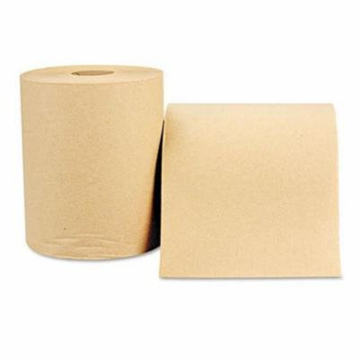Nonperforated Paper Towel Roll, 8 x 600ft, Natural, 12 Rolls/Carton, Sold as 1 Carton