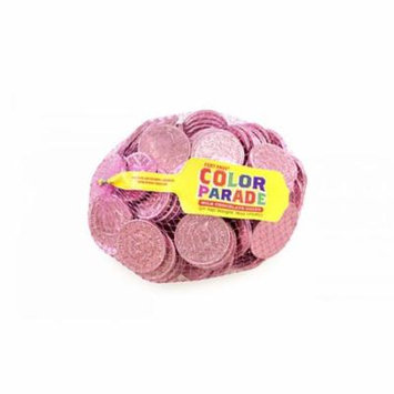 Fort Knox Milk Chocolate 1.5-inch Coins - Pink Foil, 1 LB
