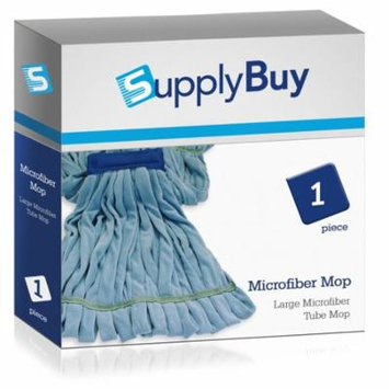 SupplyBuy Large Microfiber Tube Mop | Industrial Wet Mops with Canvas Headbands | Single Pack