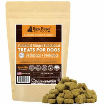 Eager Paws Probiotics for Dogs with Prebiotics Soft Chews, Pumpkin & Ginger, 5-ounce Functional Treats - 2 Billion CFU's - Supports Digestive Health - Diarrhea Relief - Made in USA Only