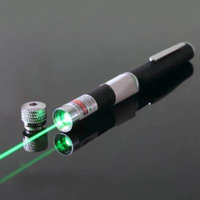 100mW Green Laser Pointer Presentation Pen Visible Beam up to 6000FT Stargazing Office, Classroom, Home, FREE Removable Kaleidoscope Lens