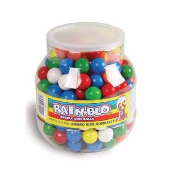 Rain-Blo Jumbo Bubble Gum Balls, 48 Ounce Jar