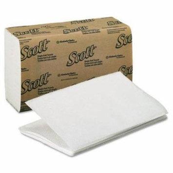 KIMBERLYCLARK 1700 SCOTT 1 Fold Paper Towels, 9 3/10 x 10 1/2, White, 250/Pack, 16 Packs/Carton