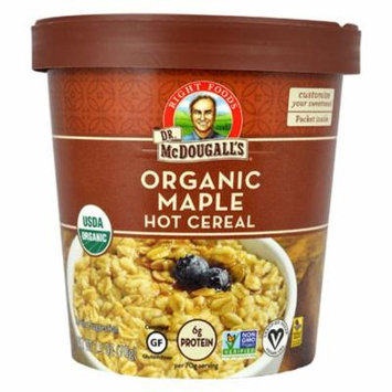 Dr McDougall's Organic Maple Hot Cereal 2.5 oz Cups - Pack of 6