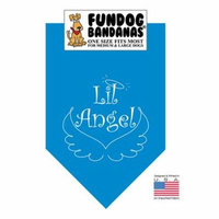 Fun Dog Bandana - Lil Angel - One Size Fits Most for Med to Lg Dogs, turquoise pet scarf