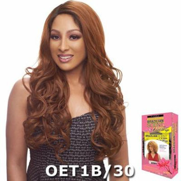 Janet Brazilian Scent Human Hair Blend Lace Front Wig - HARRIET (BLACK BLUE)