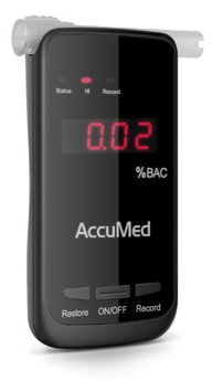 AccuMed Professional Blood Alcohol Breath Tester Breathalyzer w LED Display - Measures Blood Alcoho