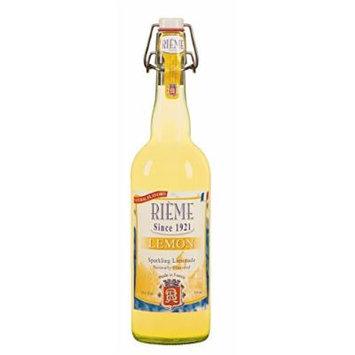 Rieme Traditional French Lemon Sparkling Lemonade - 25.4oz Mechanical Cork Bottle (Lemon, Eight Bottles)
