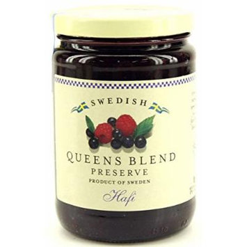 Hafi Queens Blend: Raspberry & Wild Blueberry Preserves 14.1-ounce Jar (Pack of 2)