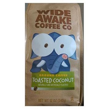 Wide Awake Coffee Toasted Coconut Ground Coffee, 12 Ounce