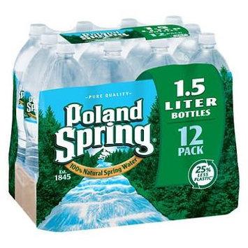 Poland Spring 100% Natural Spring Water (1.5 L bottles, 12 pk.) (pack of 6)