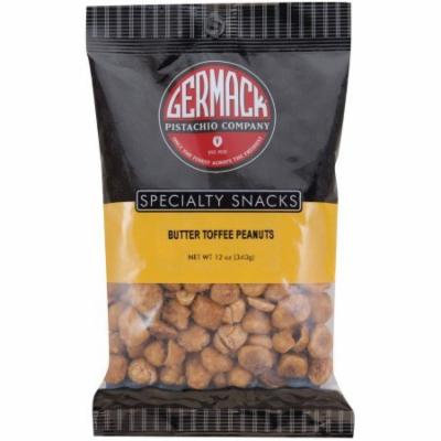 Germack Pistachio Company Specialty Snacks Butter Toffee Peanuts 12 oz, pack of 1