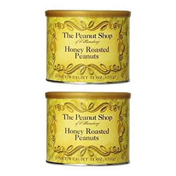 The Peanut Shop of Williamsburg Peanuts, Honey Roasted, 11 Ounce (Pack of 2)