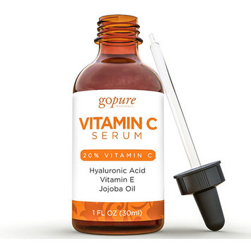 goPure Vitamin C Serum - With Vitamin C, Hyaluronic Acid and Organic Aloe