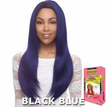 Janet Brazilian Scent Human Hair Blend Lace Front Wig - ALEX (BLACK PURPLE)