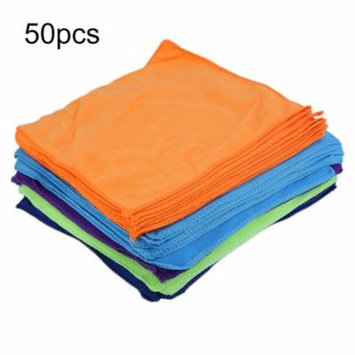 50 Pcs 30*30 Cm Washable Reusable Small Microfiber Cleaning Cloth Car Polishing Detailing No-Scratching Towel Rag