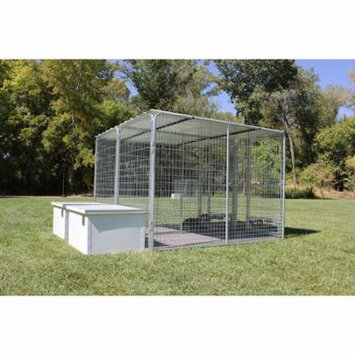 X2 K9 Condos 4' X 8' Multiple Kennels + Dog House Combination