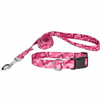 Country Brook Design® Pink Bone Camo Deluxe Collar & Leash