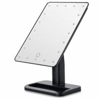 TMISHION Portable 20 LED Makeup Mirror & Touch Screen Lighted Stand(Black)