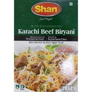 Shan Karachi Beef Biryani Seasoning Mix - Pack of 6 (60g)