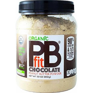 Organic Chocolate PBfit — All-Natural Chocolate Peanut Butter Powder, Organic Peanut Butter, Produced by BetterBody Foods — 30 oz