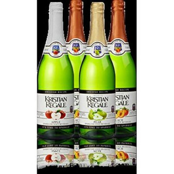 Kristian Regale Sparkling Fruit Juices 4 Packs (Summer White Variety Pack)