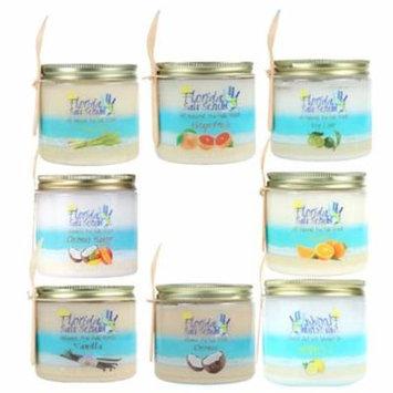 Florida Salt Scrubs Body Feet Hands Natural Salt Scrub, Sampler Pack of 8 Jars