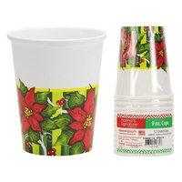 Hanna K Signature 2185269 Poinsettia Wreath 9 oz Cups - Pack of 36 & 12 per Pack