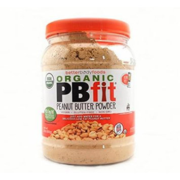 Organic PBfit, All-Natural Peanut Butter Powder, Certified Organic, Produced by BetterBody Foods -Family Siize 3 Packk ( 90 Ounce Total )