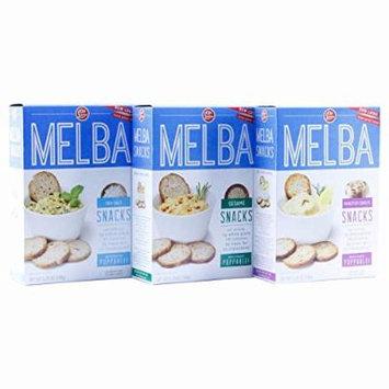 Old London - Melba Snacks - Roasted Garlic, Sesame, Sea Salt -VARIETY Pack -5 ounce (Pack of 3)
