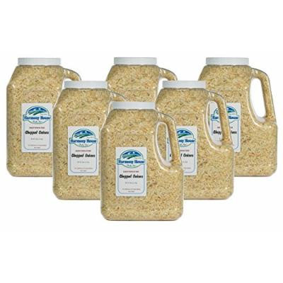 Harmony House Foods Dehydrated Chopped Onions (58 oz. Gallon Size Jug) - Set of 6