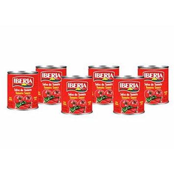 Iberia Spanish Style Tomato Sauce, 8 oz Salsa de Tomate Estilo Espanol (6 pack)