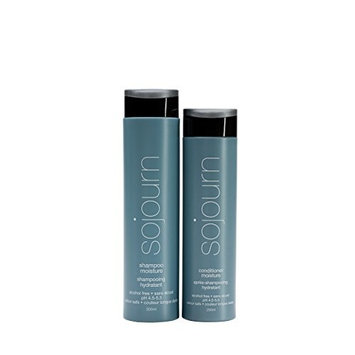 Sojourn Moisture Shampoo and Conditioner Due Set With Optimal Hydration For Normal, Dry, Curly Or Thick Hair, (250ml+300ml ) Color Safe, Professional Salon Recommended