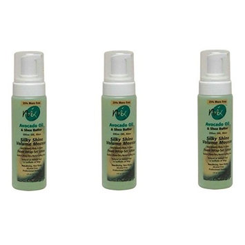 [VALUE PACK OF 3] ON NATURAL NEXT IMAGE SHEA SILKY SHINE VOLUME MOUSSE 8oz : Beauty