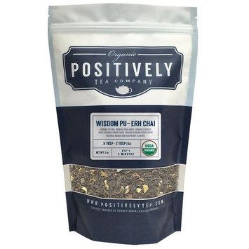 Organic Wisdom Pu-Erh Chai Tea, Loose Leaf Pu-Erh Tea, Bulk 1 Pound Bag, Positively Tea LLC. (1 Lb.)