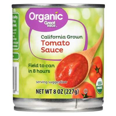 Great Value Organic California Grown Tomato Sauce, 8 oz
