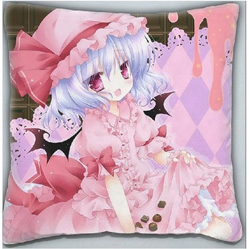 Creative Craft Decorative Japanese Anime Throw Pillow Covers Cushion Covers Pillowcase Touhou Project Remilia Scarlet, 16x16 Double-sided Design