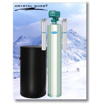 Crystal Quest CQE-WH-01181 Whole House Tannin 1.5 Water Filter System Stainless Steel