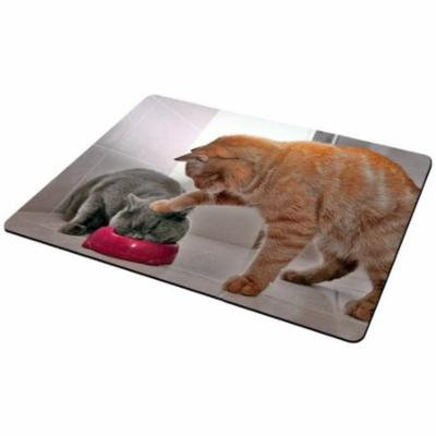 Cat Mouse Pad Cat Helping Kitty Eat Cat Food Pets Mousepad, MP201