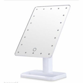 TMISHION 20 LEDs Illuminated Makeup Stand Touch Screen Lighted Mirrors(White)