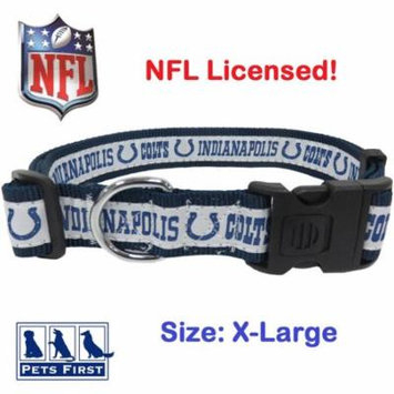 NFL Indianapolis Colts Strong, Durable, Heavy-Duty Dog Collar, Officially Licensed
