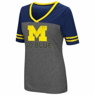 Ladies Colosseum Mctwist University of Michigan Wolverines Jersey T Shirt