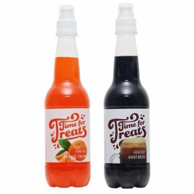 Victorio Time for Treats Snow Cone Syrup 2 Pack Bundle Orange Cream and Root Beer